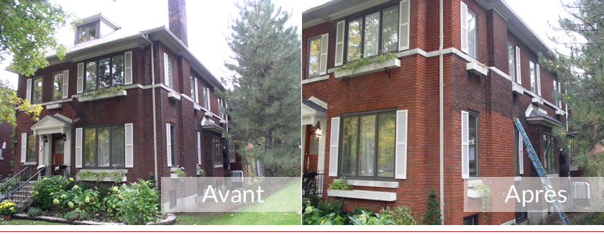 Nettoyage facade brique rouge resine de protection pour peinture - Nettoyage des facades de maison ...